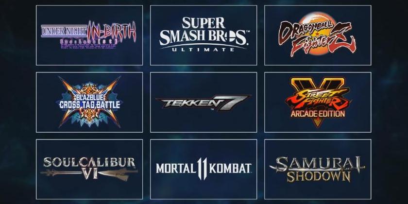 La liste complète des jeux de l'EVO 2019