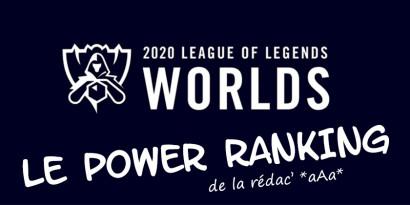 Worlds 2020 : le Power Ranking officiel de la rédac'