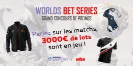Worlds 2019 : 3000€ de lots à gagner avec Parions Esport !