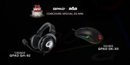 Concours QPAD : deux casques QH-92 et deux souris DX-30 à gagner pour les 20 ans de aAa !