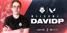 G2 Esports officialise le recrutement de davidp