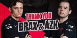 Brax et AZK quittent l'équipe T1 Valorant