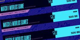 Worlds 2020 : les drops et récompenses de visionnage