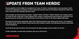Retour du coach et de la COVID chez Heroic